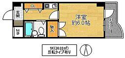 シティーガーデン鶴見[4階]の間取り