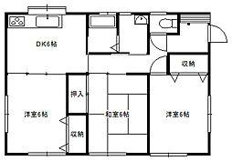 富角ハウス _ 2階3DKの間取り