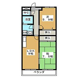 Chez Nous吉祥院[3階]の間取り