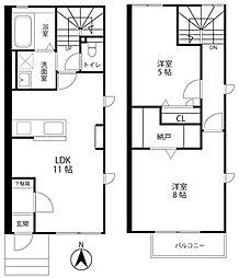 [テラスハウス] 静岡県浜松市東区北島町 の賃貸【/】の間取り
