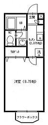 セレ中和倉[103号室号室]の間取り