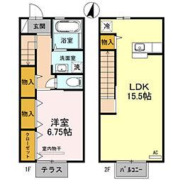 D-room秋吉 B棟[102号室]の間取り