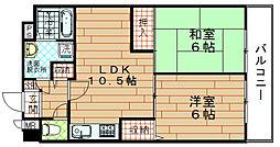 富士プラザ3[8階]の間取り