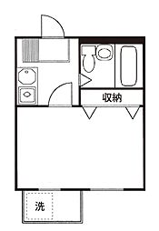 クレッセントO-2[2階]の間取り