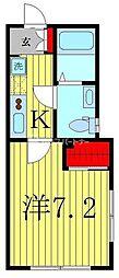 Le clair(ル・クレール)新松戸 1階1Kの間取り