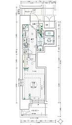 名古屋市営桜通線 高岳駅 徒歩7分の賃貸マンション 2階1Kの間取り