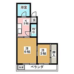 東新ハイツ[2階]の間取り
