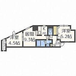 北海道札幌市豊平区月寒中央通4丁目の賃貸マンションの間取り