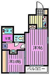 埼玉県川口市朝日6丁目の賃貸アパートの間取り