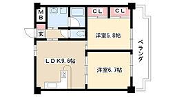 愛知県名古屋市南区柴田町3丁目の賃貸マンションの間取り