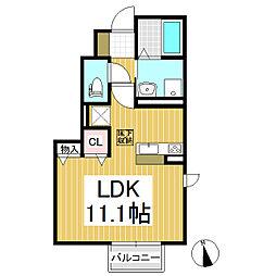 (仮)D-room稲田1丁目[1階]の間取り