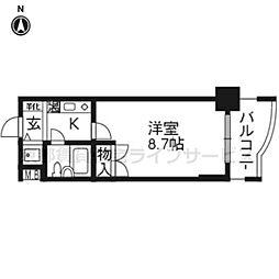 アクシルコート京都二条ウエスト502[5階]の間取り