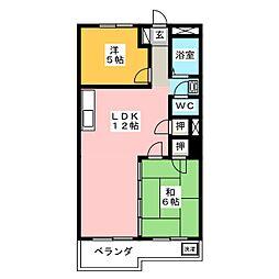コーポ藤村[2階]の間取り