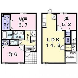 [タウンハウス] 大阪府貝塚市脇浜2丁目 の賃貸【/】の間取り