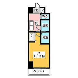 愛知県東海市荒尾町中切の賃貸マンションの間取り