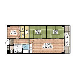 ベルメゾン茨木[3階]の間取り