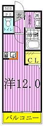 ホワイト ウッド[3階]の間取り