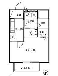 グラフィアス湘南[1階]の間取り