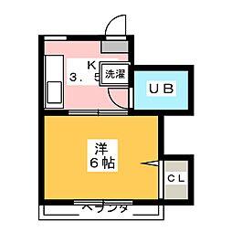 カウラ荘[2階]の間取り