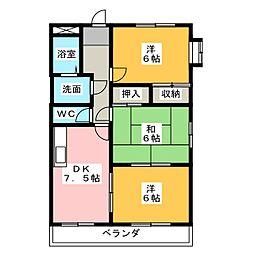 クレストールB棟[1階]の間取り