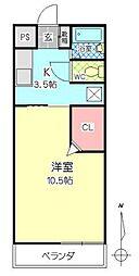 シティタウン久永No.2[2階]の間取り