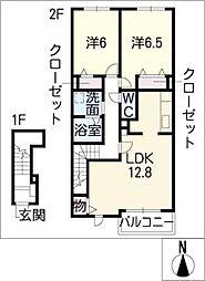 ウィンズIIB[2階]の間取り