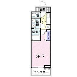JR鹿児島本線 黒崎駅 バス14分 則松下車 徒歩3分の賃貸アパート 3階1Kの間取り