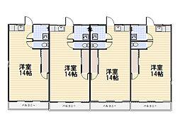 サヤマハウスC棟[2階]の間取り