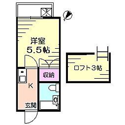 安西壱番館[2階]の間取り