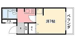 エクセレント武庫川[309号室]の間取り