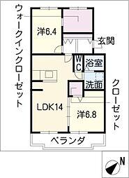 レスポワール石川A[3階]の間取り