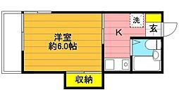 東財ホワイトグリーン中神[101号室]の間取り