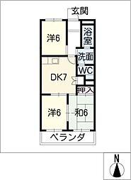 アネックス栄II[2階]の間取り