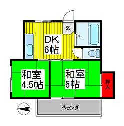 斉藤ビル[3階]の間取り