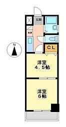 メゾンロイヤル[6階]の間取り