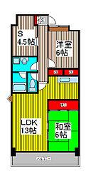 サイレンス扶桑[7階]の間取り