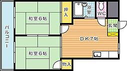 プレアール鷹の巣II[2階]の間取り