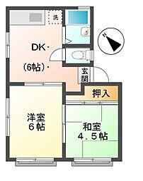 レジデンスI[1階]の間取り