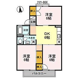 大阪府堺市中区深阪4丁の賃貸アパートの間取り