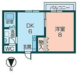 ロイヤルコート宮田[101号室]の間取り