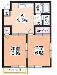 中島ハイムⅡ[2階]の間取り