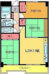 東京都足立区綾瀬1丁目の賃貸マンションの間取り