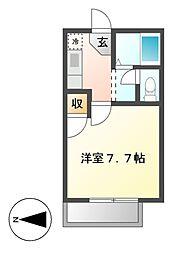 愛知県あま市甚目寺稲荷新田の賃貸アパートの間取り
