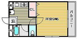 大阪府高槻市下田部町2丁目の賃貸マンションの間取り