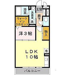 大阪府堺市西区鳳中町2丁の賃貸アパートの間取り