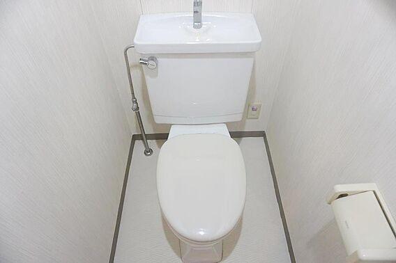 清潔なトイレで...