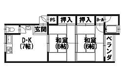 村井マンション[3階]の間取り