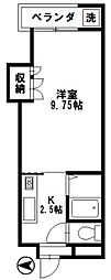 石川県金沢市横川2丁目の賃貸アパートの間取り