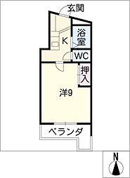 富士レイホービル第3[1階]の間取り