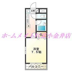 Town coat柳沢[3階]の間取り